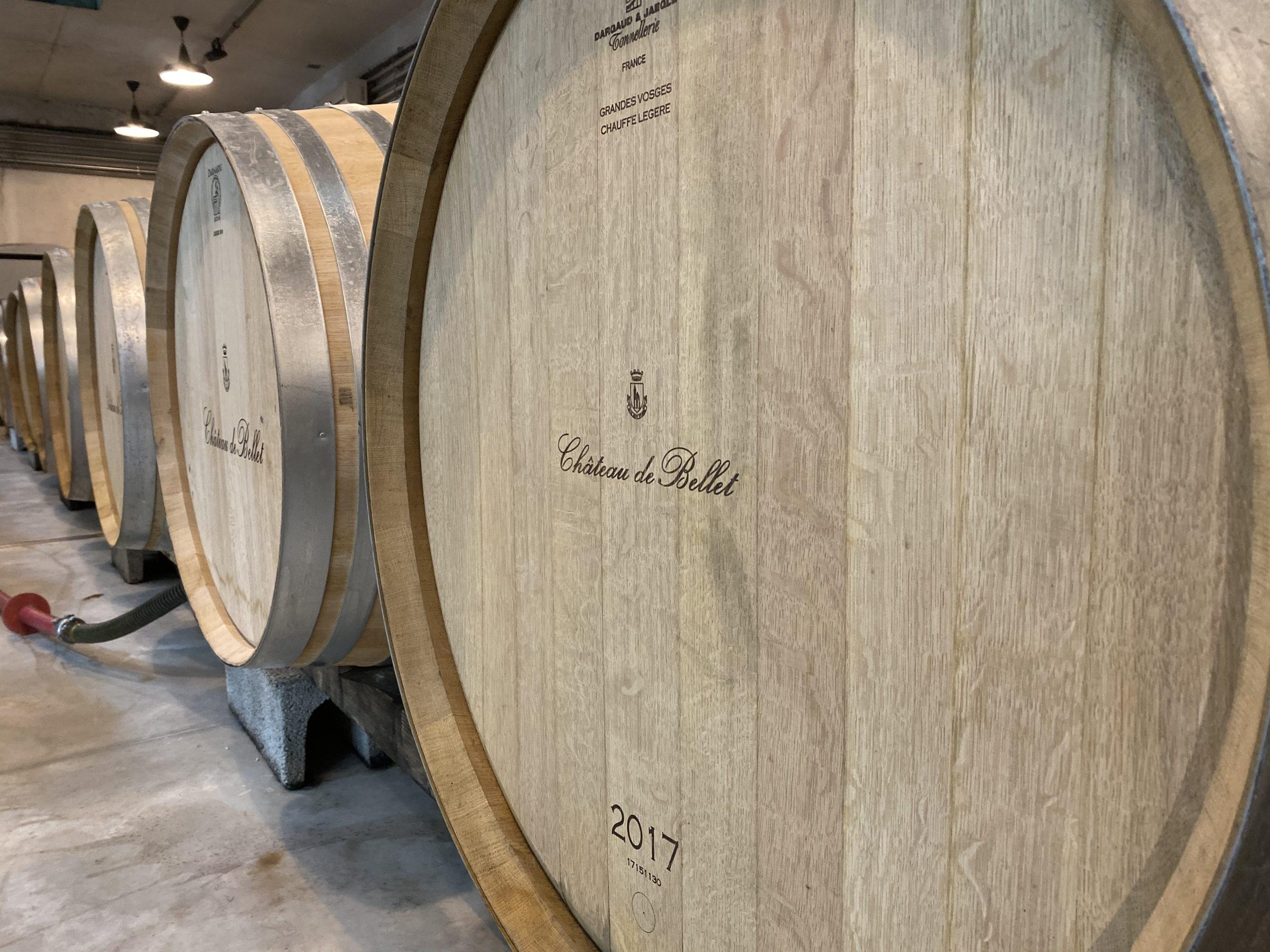 oak barrels in cellar