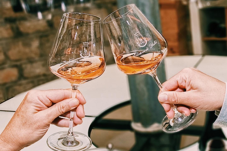 Verres à vin, Château de Bellet rosé